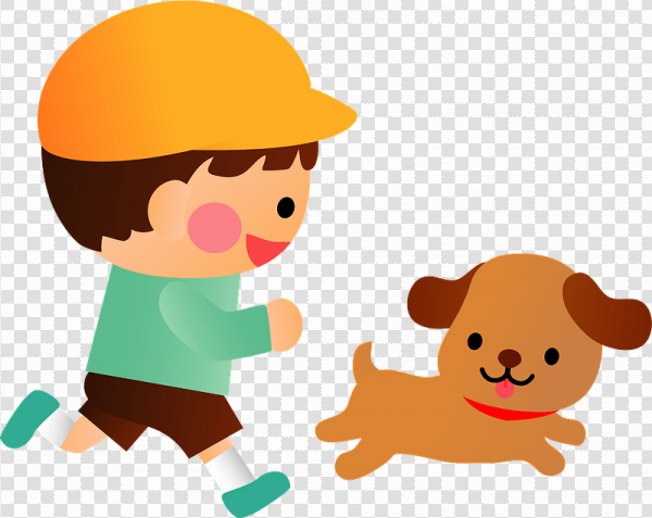 Boy And Dog PNG Clipart
